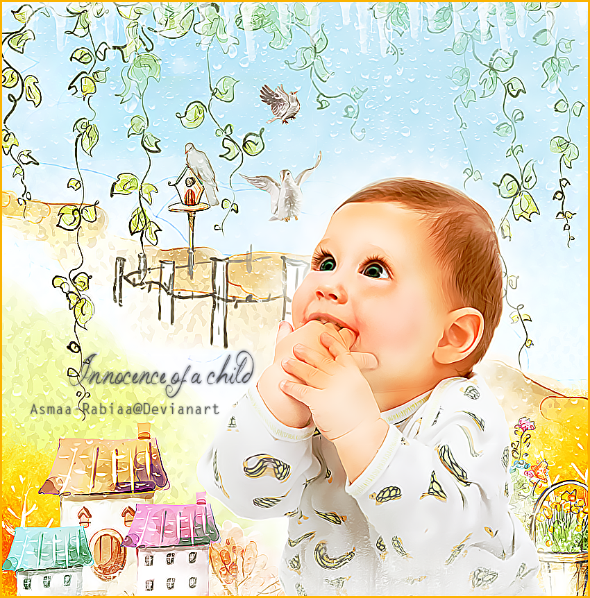 Innocence of a Child by asmaa-rabiaa