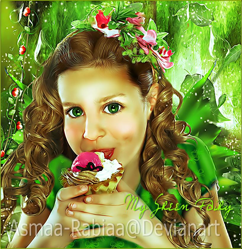 My Green Fairy by asmaa-rabiaa