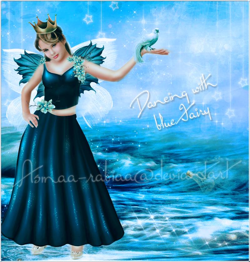 Dancing with blue Fairy by asmaa-rabiaa