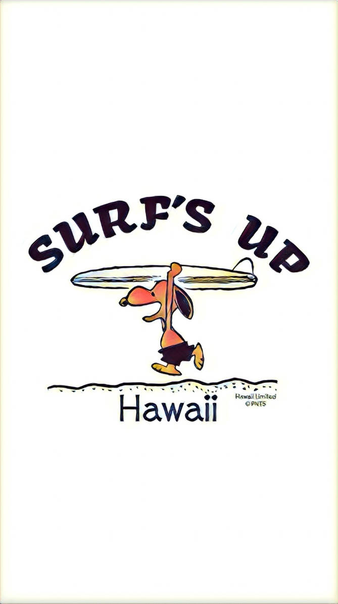 Snoopy Hawaii Surf Iphone Wallpaper By Possibility8 On Deviantart