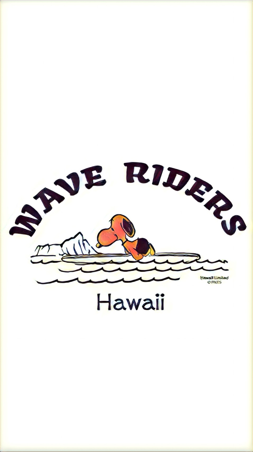Snoopy Hawaii Wave Riders Iphone Wallpaper By Possibility8 On