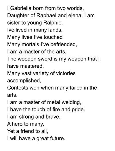 Poem Of Boast By Blackitten20 On Deviantart