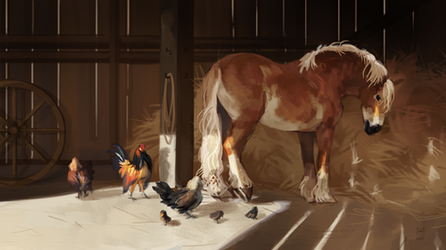 Draft Horse by Memuii