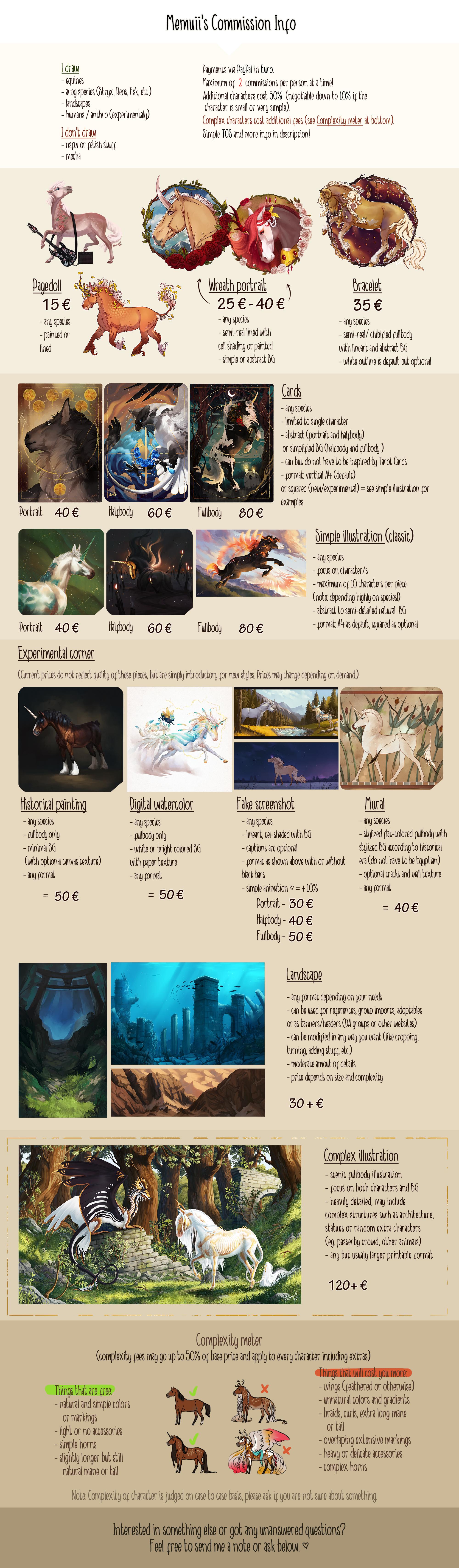 Memuii' Commissions Info - Semi-open!