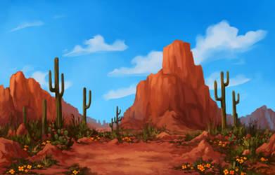 [com.] Desert Landscape by Memuii