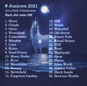 Junicorn 2021 Commissions - Closed!