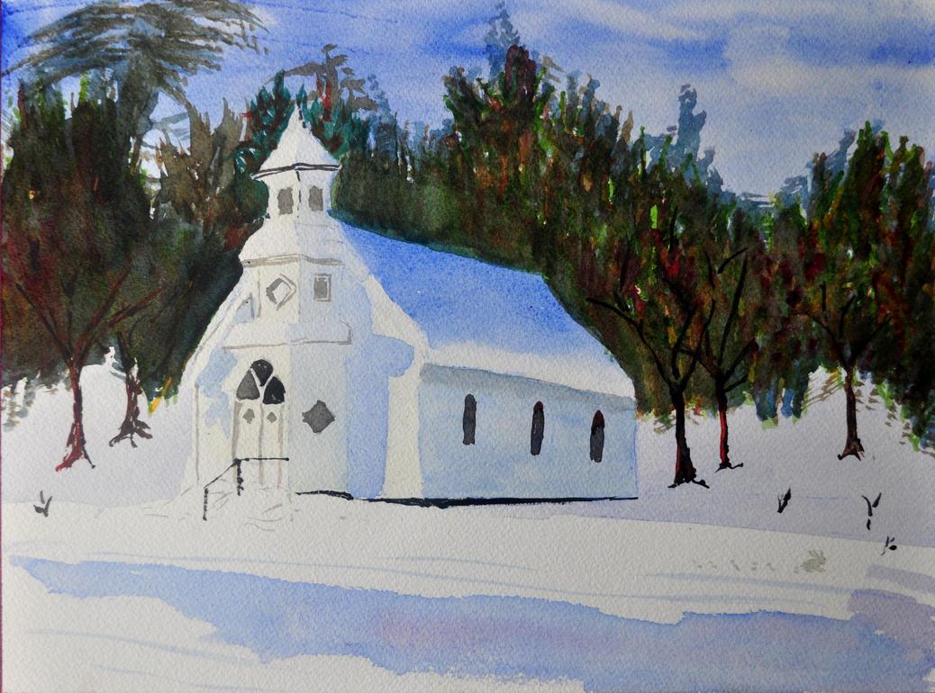 .: Snowy Church :. by muridaee