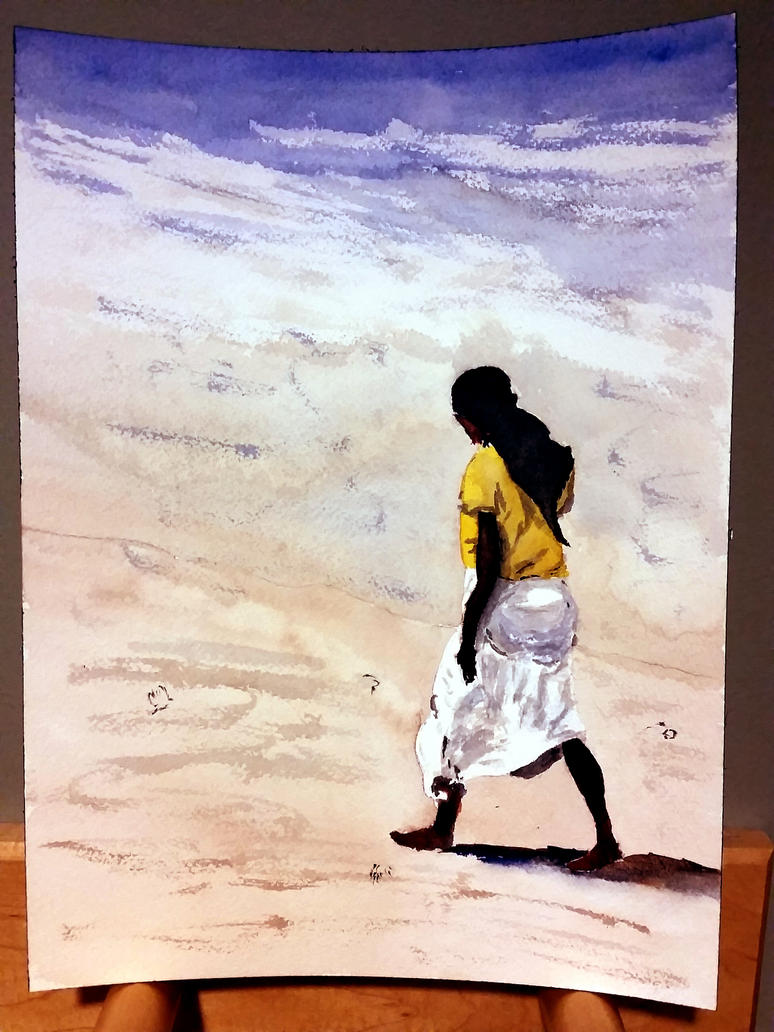 Figure on Beach by muridaee