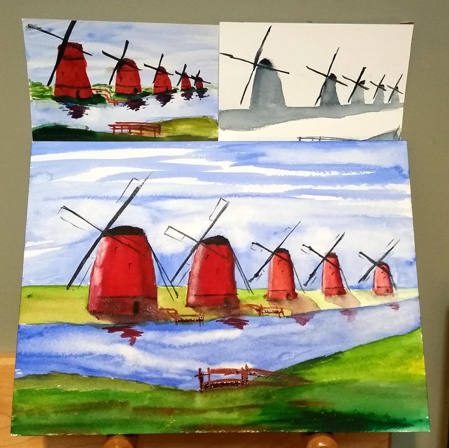 Windmills by muridaee