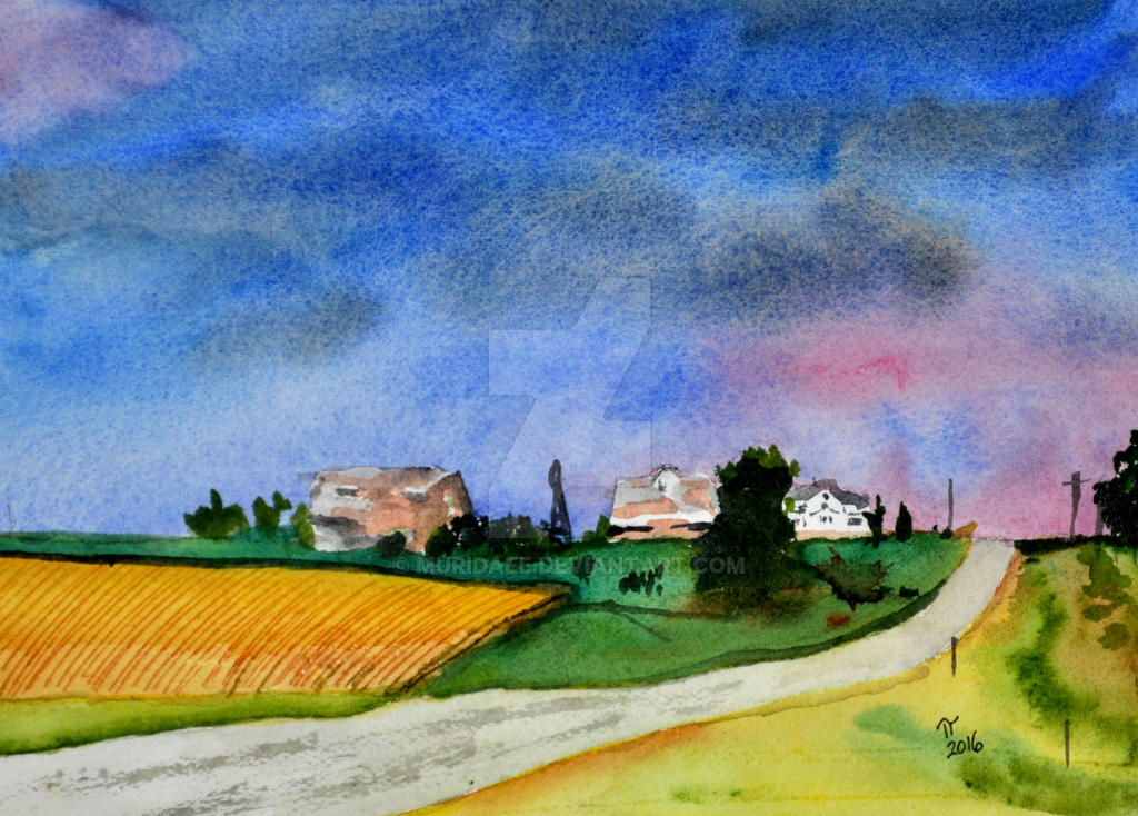 .: Storm Clearing Over Farm :. by muridaee