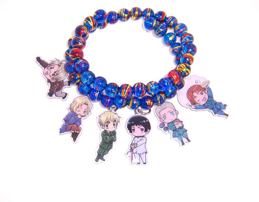 Hetalia Bracelet - Blue by ShishoDesigns