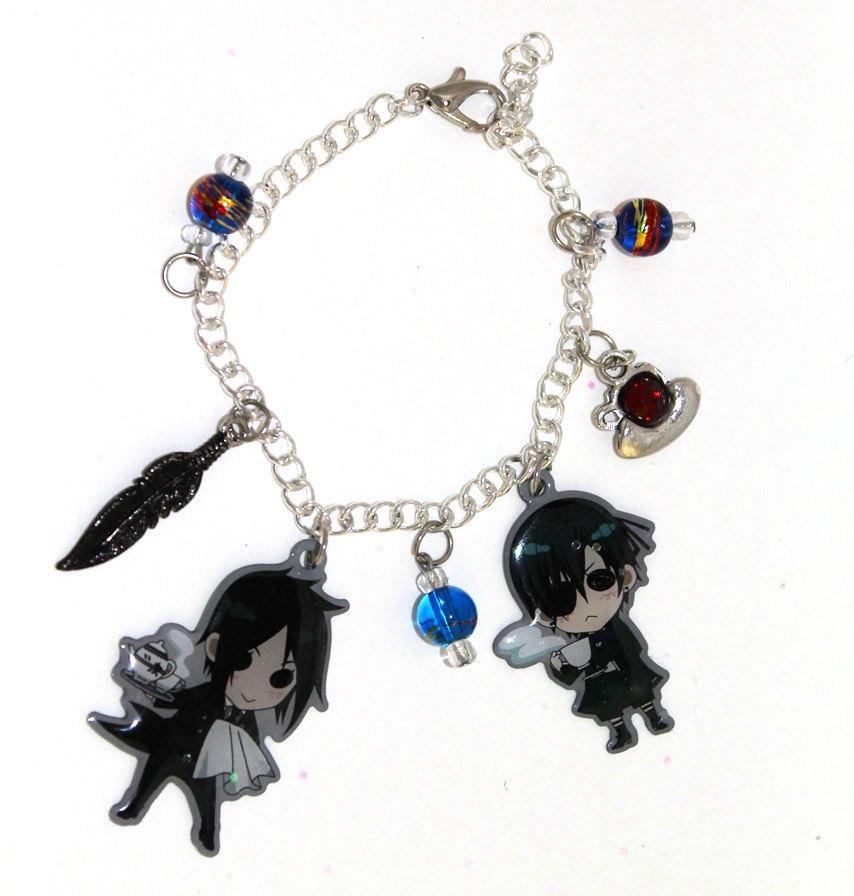 black butler kuroshitsuji charm bracelet by shishodesigns