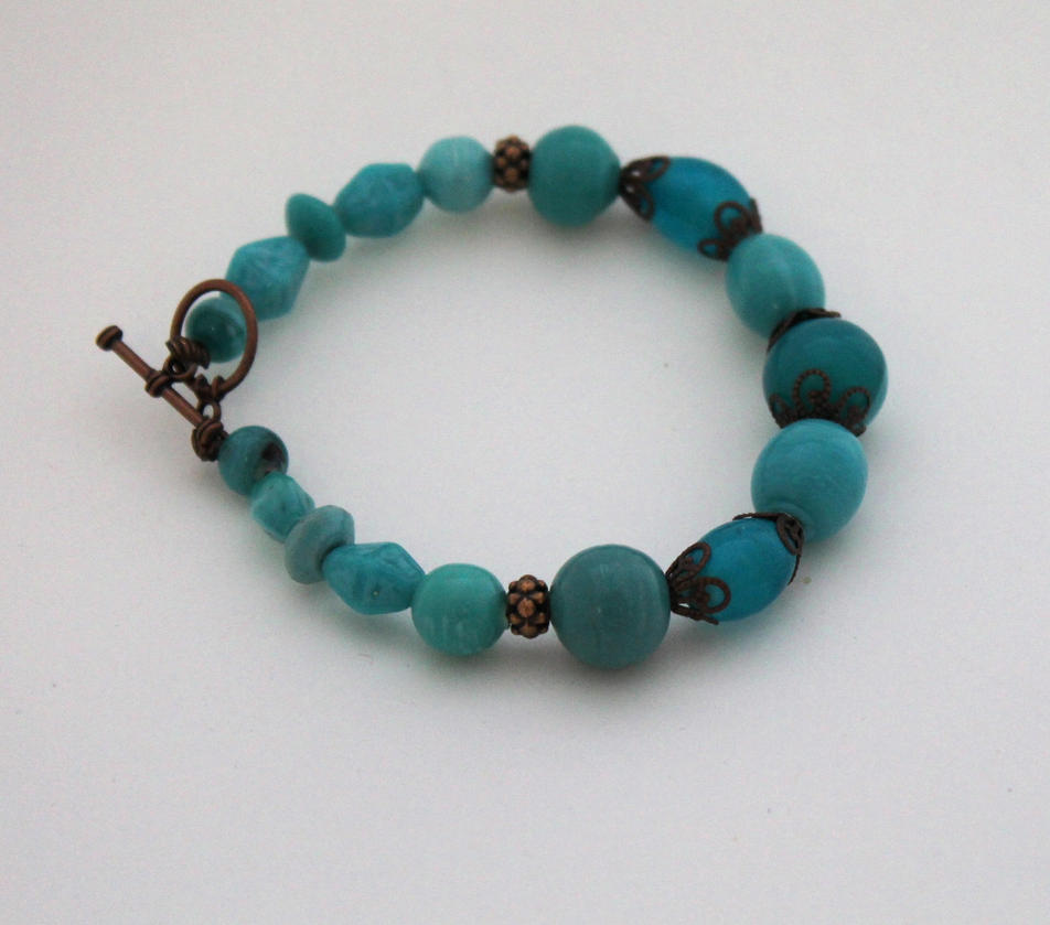 turquoise and copper bracelet by shishodesigns on deviantart