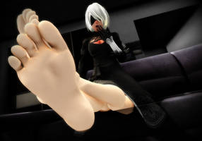 Deceiving look from 2B's soles