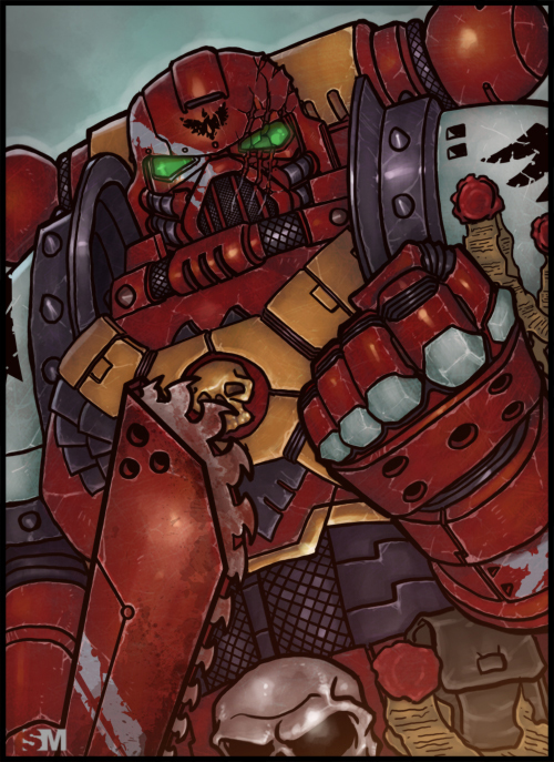 Warhammer 40K - Space Marine by BrokenNoah