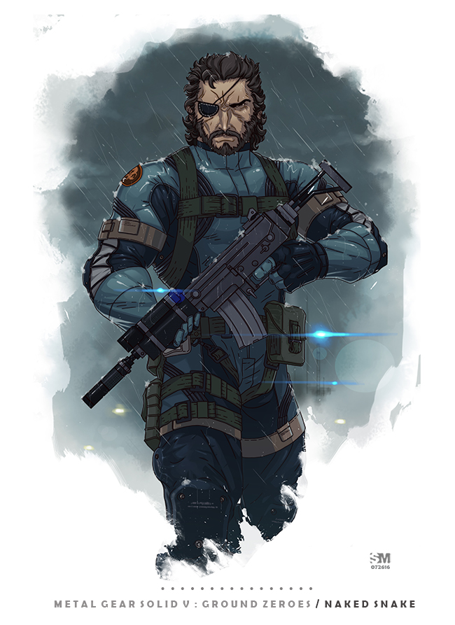 Metal Gear Solid V Ground Zeroes Naked Snake By