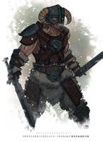 The Elder Scrolls V Skyrim - Dovahkiin by BrokenNoah