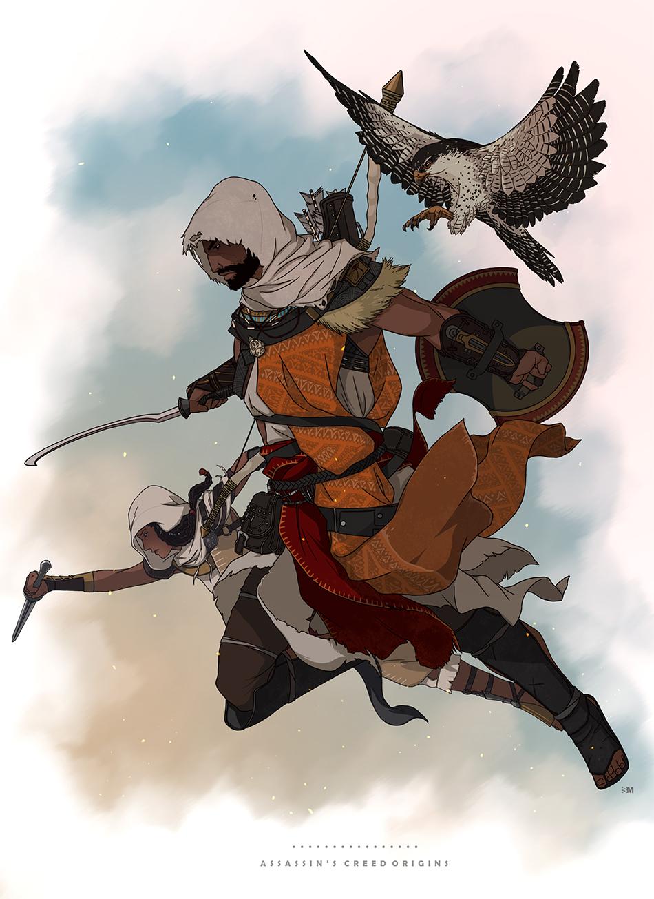 Assassin S Creed Origins Bayek Senu Aya By Brokennoah On