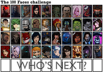 The 100 Faces Challenges by theEyZmaster Part 2 by BrokenNoah