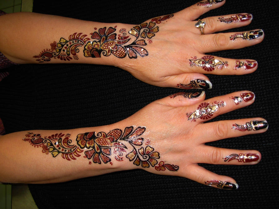 Mehndi Hand Tattoo Art : Henna tattoo hand design by april mo on deviantart