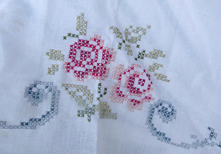 Embroidery motif stitches makaroka