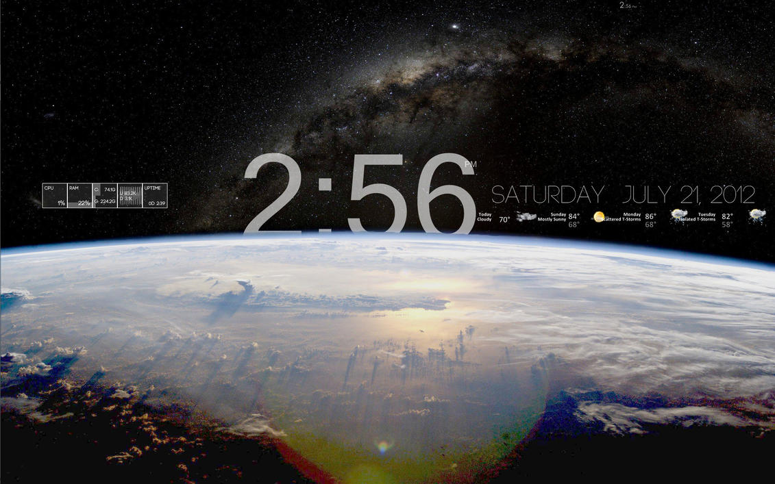 Big Earth Rainmeter Skin by skmcloughlin