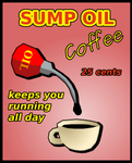 Sump oil poster
