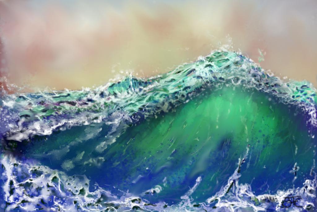 ROUGE WAVE #1 by sprocket2cog