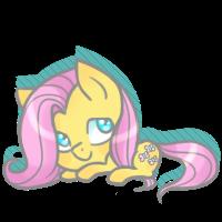 Fluttershy Chibi by CloudBrownie