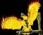 Battle Warlock's Fire Bird by PCRaven