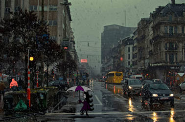 A Walk in the Rain... by VicMartinezJr