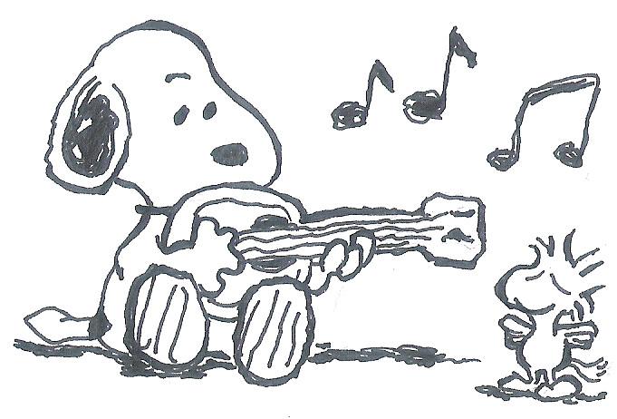 snoopy ukulele by ojneb12