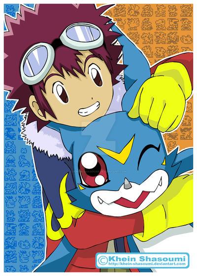 Daisuke and V-mon by Khein-Shasoumi
