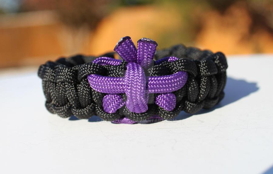 Lupus Purple Butterfly Paracord Bracelet