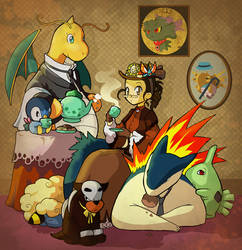 Victorian Pokemon by Laurielle-Maven
