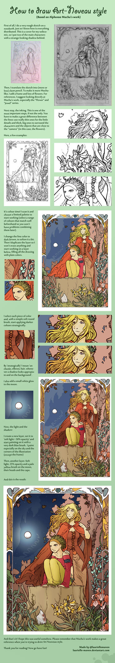 Art Nouveau tutorial by Laurielle-Maven