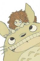 Merida y Totoro by Laurielle-Maven