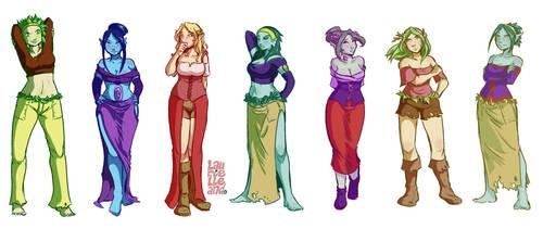 Flora, Acteea, Amanda y sus fusiones by Laurielle-Maven
