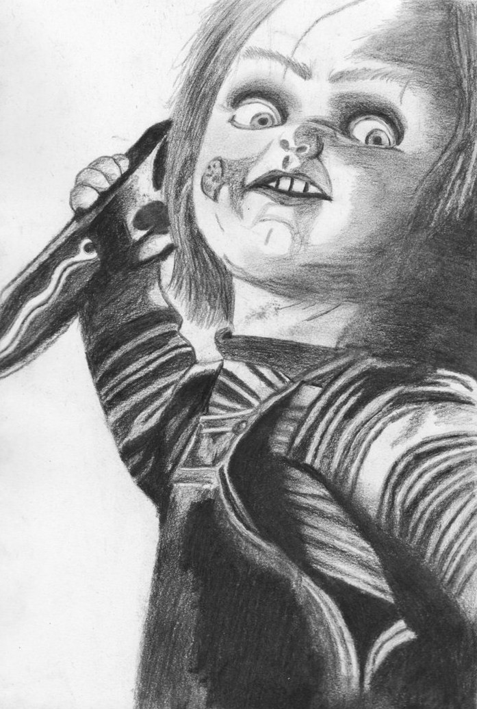 Chucky By NymphetamineSyndrome Doll Drawing