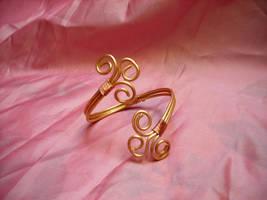 triskele  brass bracialet