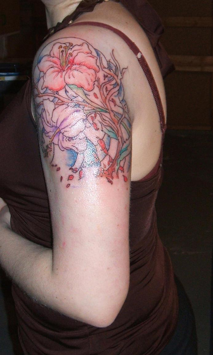 Flowers mini sleeve - sleeve tattoo