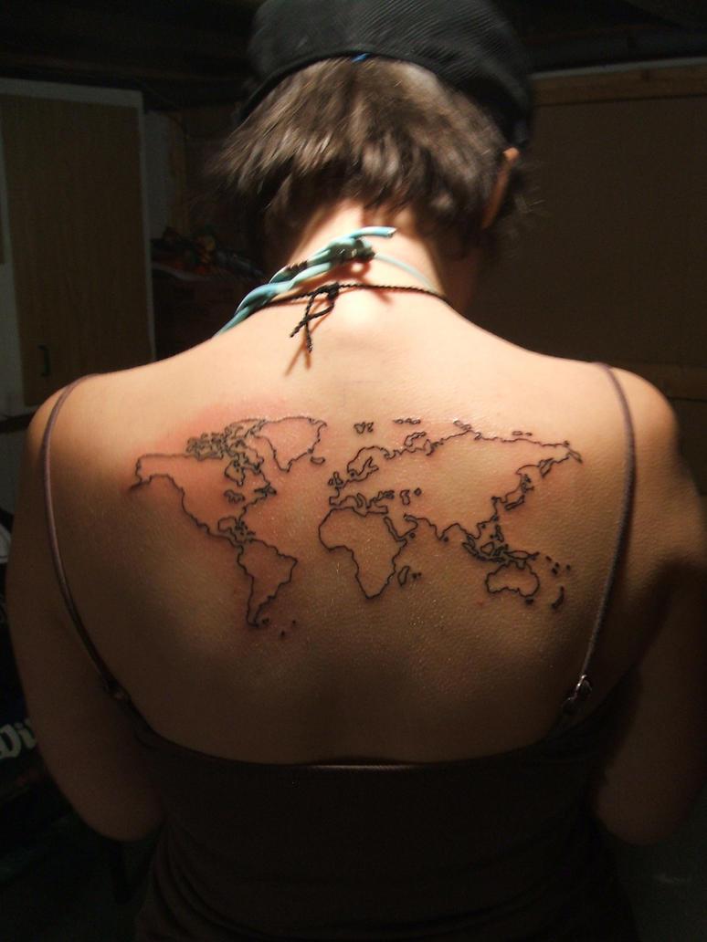 World map by littleholly23