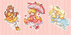 Princess Peach Daisy and Rosalina