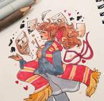 Inktober Hermione by pomifumi