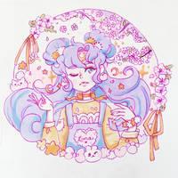 Lady Luna Sailor Moon Copic Illustration by pomifumi