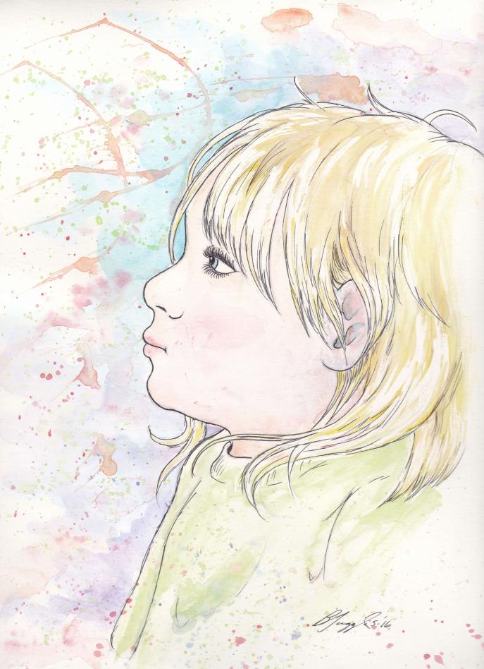 Watercolor Portrait-Kyli by Tugglebee