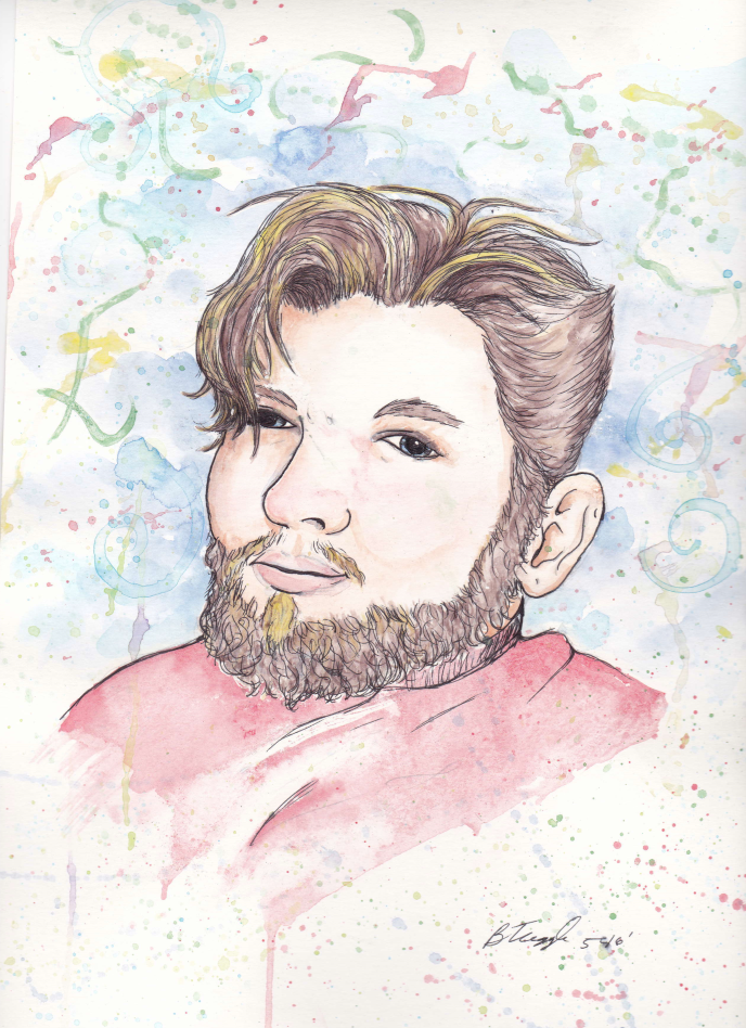 Watercolor Portrait-Michael by Tugglebee