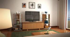 living room render02