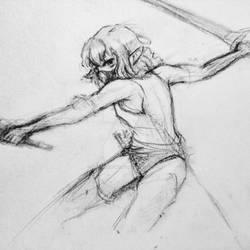 Ryu Lion Body sketch