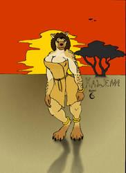 Kaleah - Colored by BlackWolfe-Coyoten